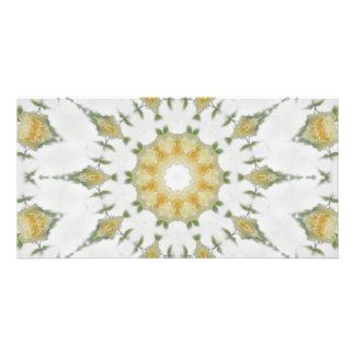 Creamy Yellow Rose Kaleidoscope Art 7 Card