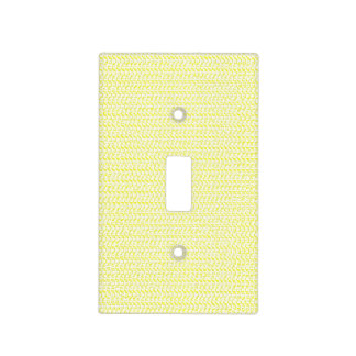 Creamy Yellow Weave Look Light Switch Plates