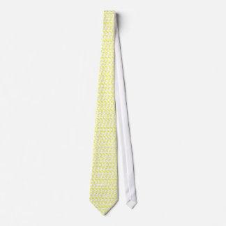 Creamy Yellow Weave Look Neck Tie