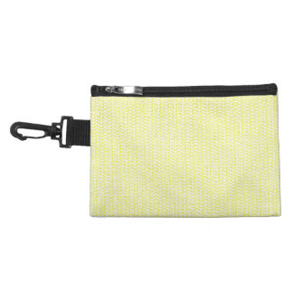 Creamy Yellow Weave Mesh Look Accessories Bags