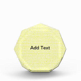 Creamy Yellow Weave Mesh Look Acrylic Award