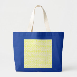 Creamy Yellow Weave Mesh Look Large Tote Bag