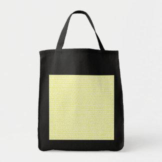 Creamy Yellow Weave Mesh Look Tote Bag