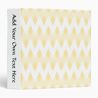 Creamy Yellow Zigzag Pattern with Diamond Shapes. 3 Ring Binder
