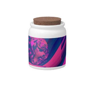 Creando los mundos - magia abstracta de la magenta jarras para caramelos