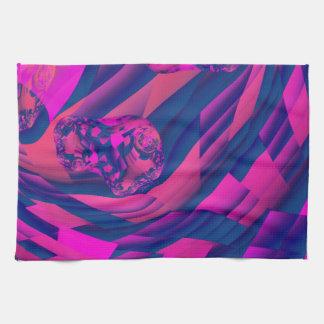 Creando los mundos - magia abstracta de la magenta toalla