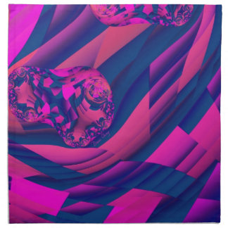 Creando los mundos - magia abstracta de la magenta servilletas