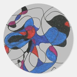 """Creapy Crawlies"" Abstract Design Sticker"