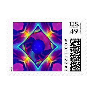 Crear el azul del planeta timbres postales