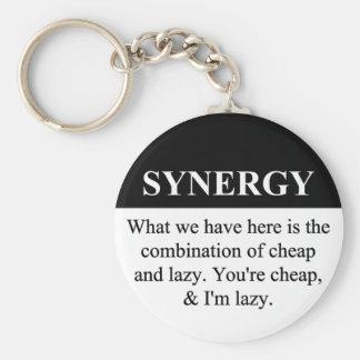Crear la sinergia de organización (3) llavero redondo tipo pin