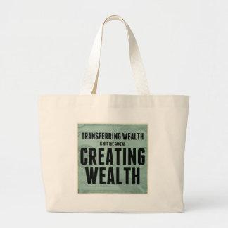Crear riqueza bolsa de mano