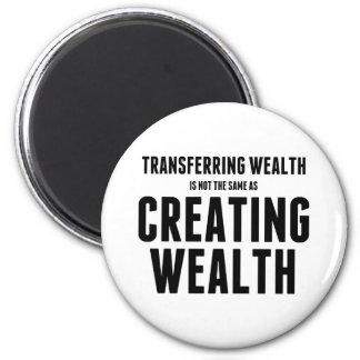 Crear riqueza imán redondo 5 cm