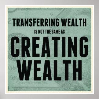 Crear riqueza impresiones
