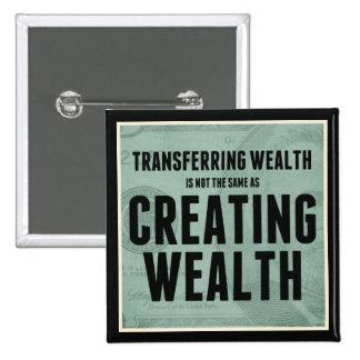 Crear riqueza pin cuadrado