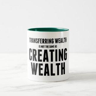 Crear riqueza taza de dos tonos