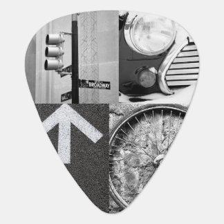 Crear-Su-Propia púa de guitarra del collage de la