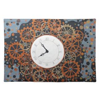 Crear tiempo. pintura de acrílico, steamp manteles