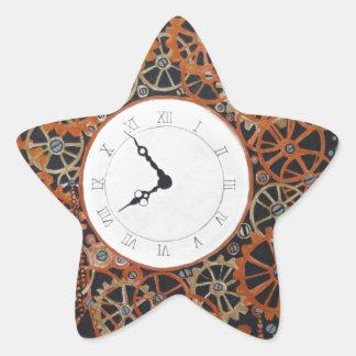 Crear tiempo. pintura de acrílico, steamp pegatina en forma de estrella