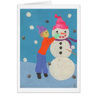 Crear un muñeco de nieve tarjeta