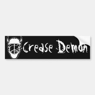 Crease Demon Bumper Sticker Car Bumper Sticker