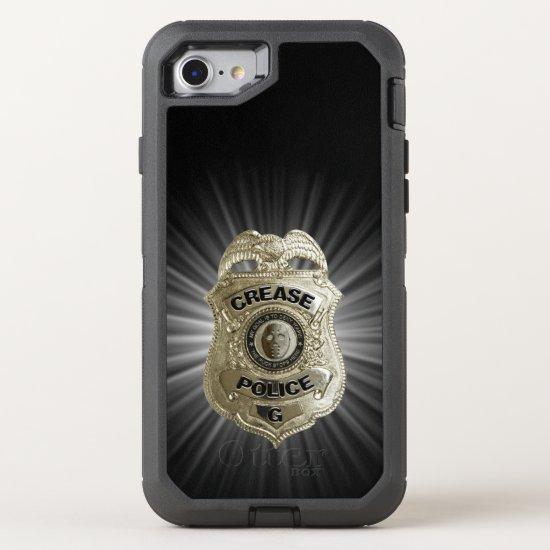 Crease Police (Hockey Goalie) OtterBox Defender iPhone 8/7 Case