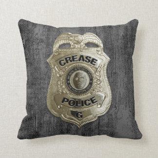 Crease Police (Hockey Goalie) Throw Pillow