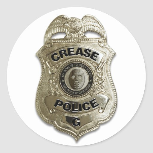 Crease Police Round Stickers