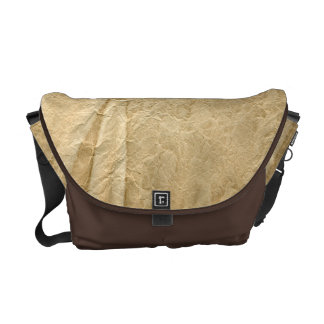 Creased and Discolored Paper Effect Courier Bag