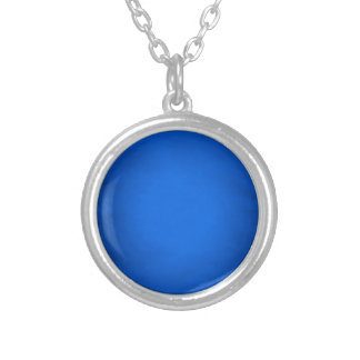 Creased blue paper with spotlight round pendant necklace