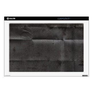 """Creased Grungy Black Background 17"""" Laptop Decal"""