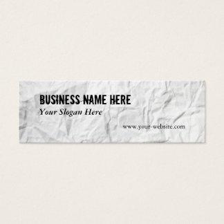 Creased Paper Mini Business Card