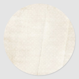 creased soft cream pattern background classic round sticker