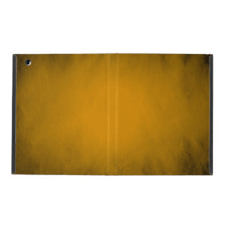 Creased yellow paper with spotlight iPad folio case