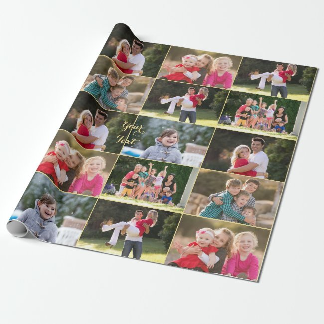 Create 6 Photo Collage Birthday Christmas Wedding Wrapping Paper