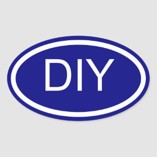 Create a Blue Euro Style Oval Sticker