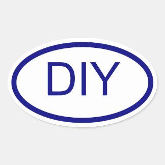 Create a Blue Euro Style Oval Sticker