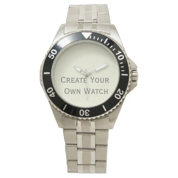 Create A Classic Stainless Steel Watch At Low Cost by DigitalDreambuilder at Zazzle