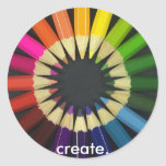 Create a Colorful Life Classic Round Sticker