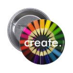 Create a Colorful Life Pinback Buttons