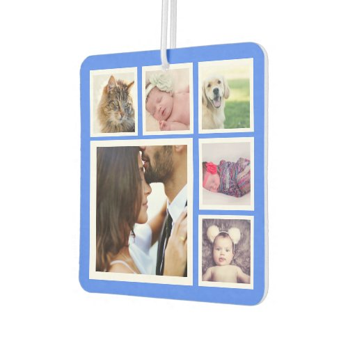 Create a Custom 6 Photo Collage Personalized Air Freshener