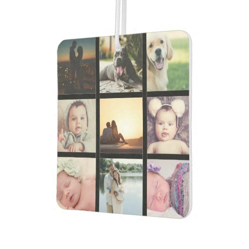 Create a Custom 9 Photo Collage Personalized Air Freshener