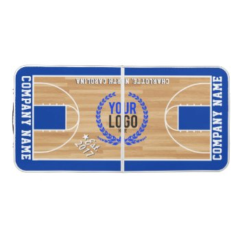 Create A Custom Logo + Color | Basketball Themed Beer Pong Table