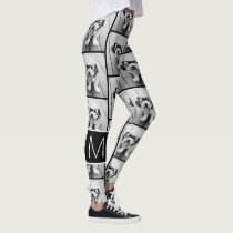 Create a Custom Photo Collage - 1 Photo Monogram Leggings
