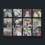 "Create a Custom Photo Collage with 12 Photos Faux Canvas Print<br><div class=""desc"">Can change background color - Use your favorite photo or pictures to make a fun keepsake to share with friends.</div>"