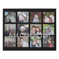 Create a Custom Photo Collage with 12 Photos Faux Canvas Print