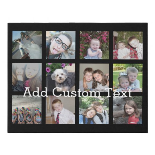 Create a Custom Photo Collage with 12 Photos Faux Canvas Print