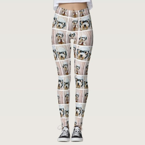 Create a Custom Photo Collage with 6 Photos Leggings