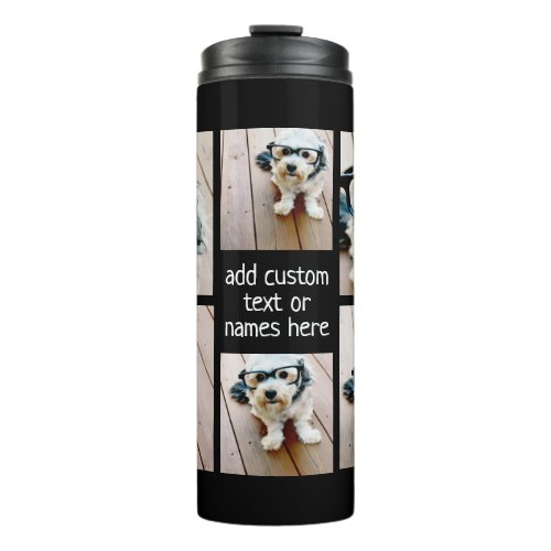 Create a Custom Photo Collage with 6 Photos Thermal Tumbler