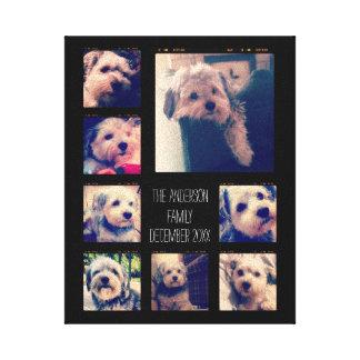 Create a Custom Photo Collage with 8 Photos Canvas Print