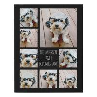 Create a Custom Photo Collage with 8 Photos Faux Canvas Print